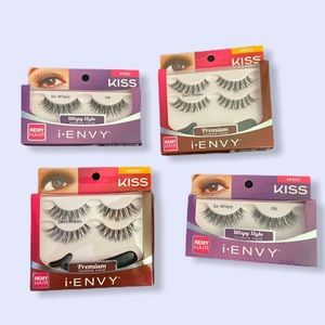 (6) Pairs of kiss Wispy Human Hair I-Envy Lashes
